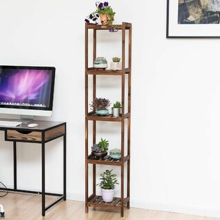 "Jesse 65"" H x 10"" W Shelf Multifunctional Utility Storage Rack Etagere Bookcase by Rebrilliant SKU:DC178185 Reviews"