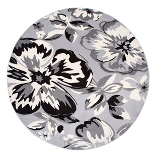 Ericson Floral Circles Gray Area Rug by Andover Mills