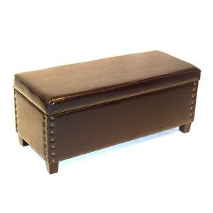 Winston Porter Simone Wood Storage Bench