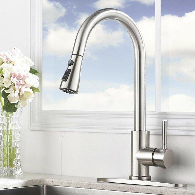 Vccucine Pull Down Single Handle Kitchen Faucet Reviews Wayfair