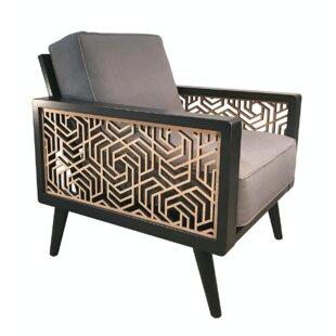 Brayden Studio Flavien Mid-Century Armchair