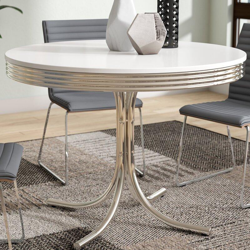 orren ellis kewei retro dining table & reviews | wayfair
