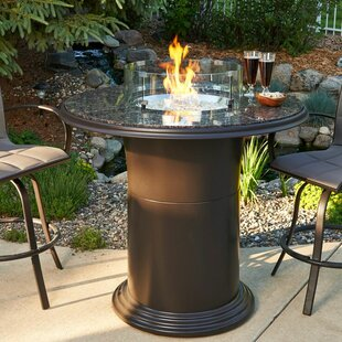 Colonial Fiberglass Gas Fire Pit Table by The Outdoor GreatRoom Company Bargain