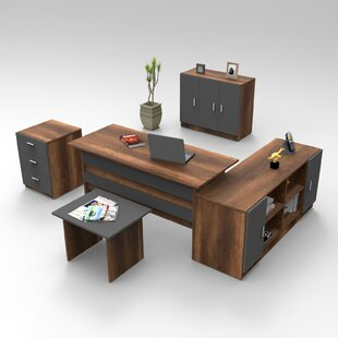 Eckington 5-Piece Standard Desk Office Suite By Ebern Designs