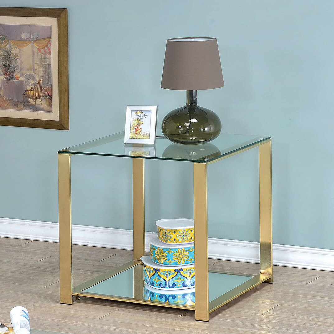 Willa Arlo Interiors Ruchelly Metal Frame End Table Reviews Wayfair
