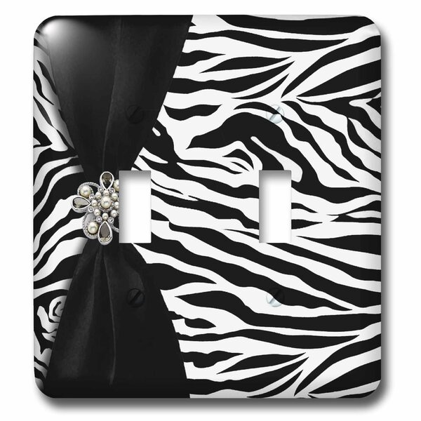 Zebra 2-Gang Toggle Light Switch Wall Plate by 3dRose