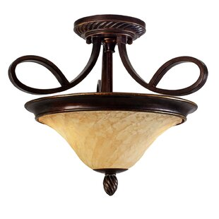 Hoopeston 2-Lights Semi Flush Mount by Darby Home Co