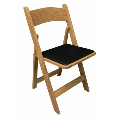 Oak Wood Padded Folding Chair Kestell Furniture