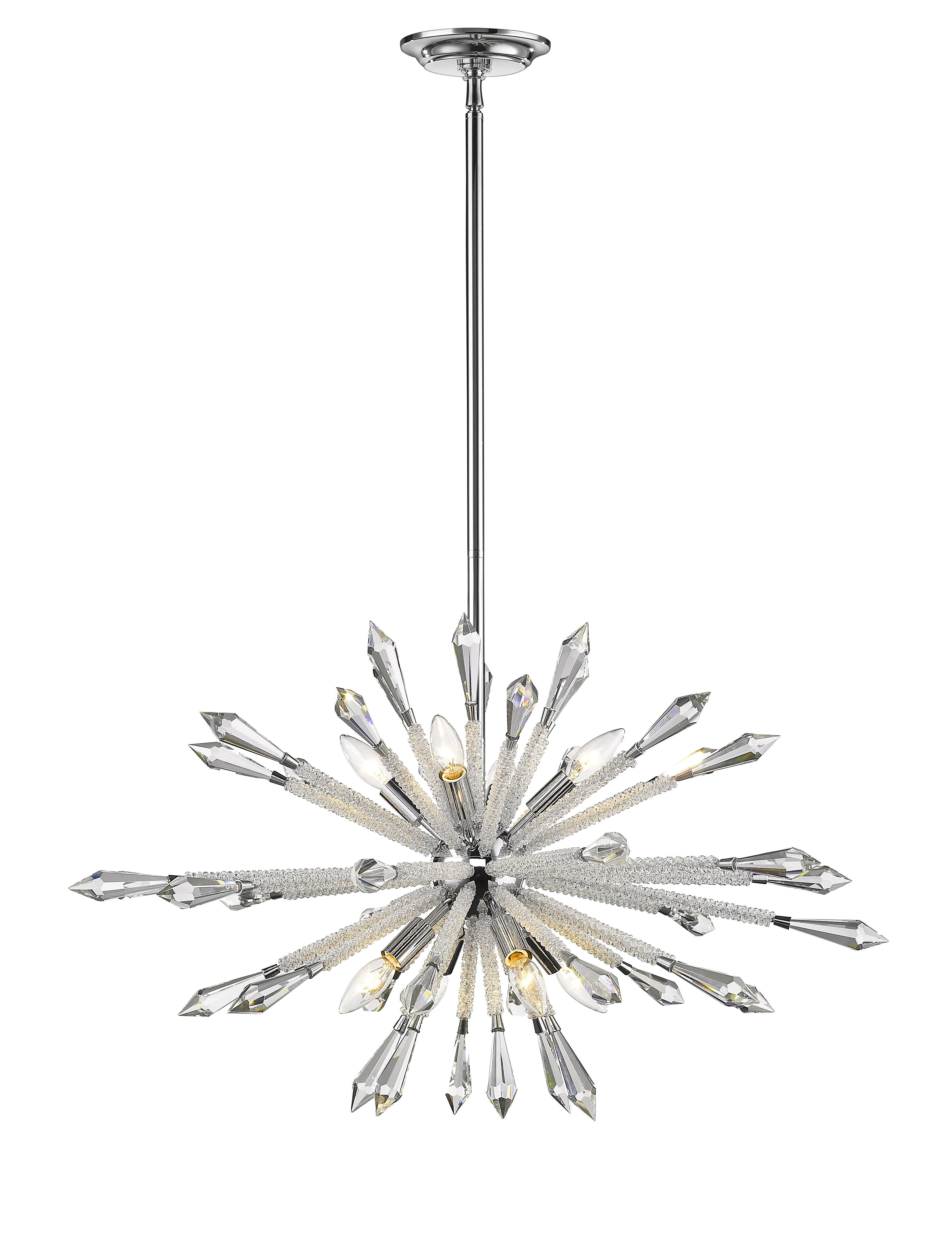 Pickering 8 Light Sputnik Chandelier