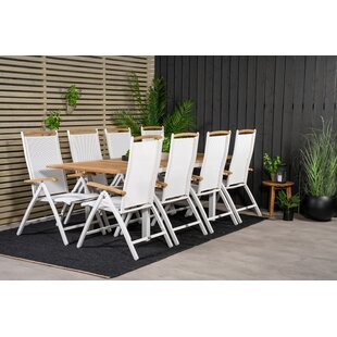 Alberti 8 Seater Dining Set By Sol 72 Outdoor