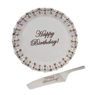 Eicher Happy Birthday Cake Decorative Plate Set Of 2