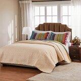 Sohil Multicolor Reversible Striped Cotton 2 Piece Quilt Set