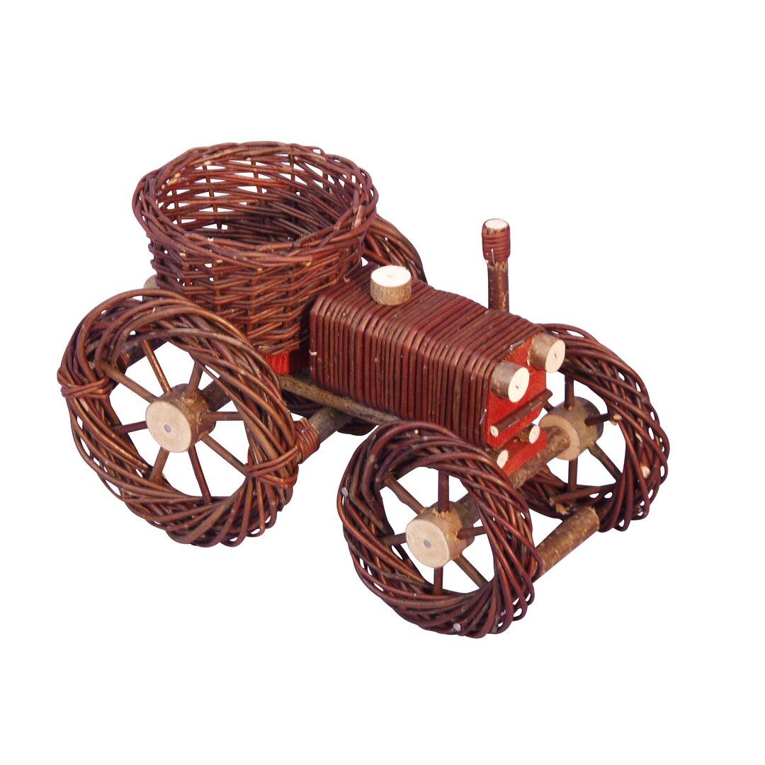 Julia Wooden Wheelbarrow Planter