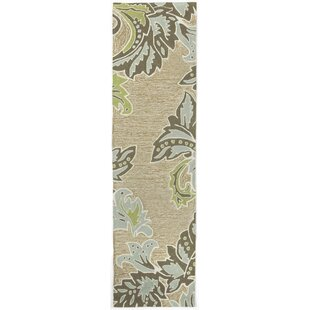 Shop For Cosmo Ornametal Leaf Border Aqua Indoor/Outdoor Rug Buy & Reviews
