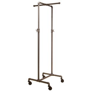 Online Reviews 21 W Pipeline Adjustable 2 Way Rolling Clothes and Garment Rack By Econoco