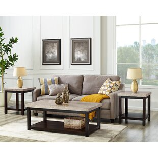 Metpally 3 Piece Coffee Table Set Red Barrel Studio