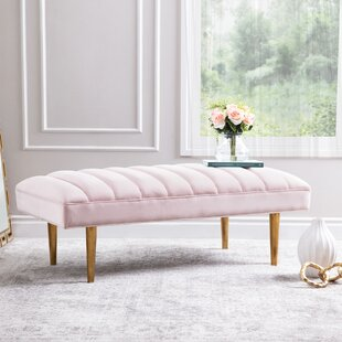 Dedrick Upholstered Bench by Everly Quinn