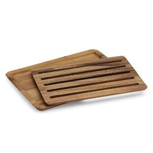 2-Piece Acacia Wood Cutting Board Set