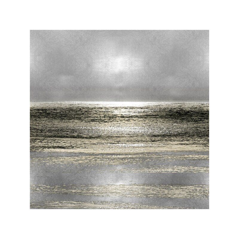 Highland Dunes Silver Seascape I By Michelle Matthews Wrapped Canvas Reviews Wayfair Co Uk