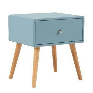 Avalos 1 - Drawer Nightstand in Blue/Brown