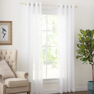 Wayfair Basics Solid Sheer Grommet Single Curtain Panel