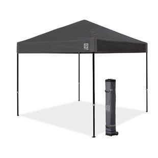E-Z UP Ambassador Instant Shelter 10 Ft. W x 10 Ft. D Metal Pop-Up Canopy
