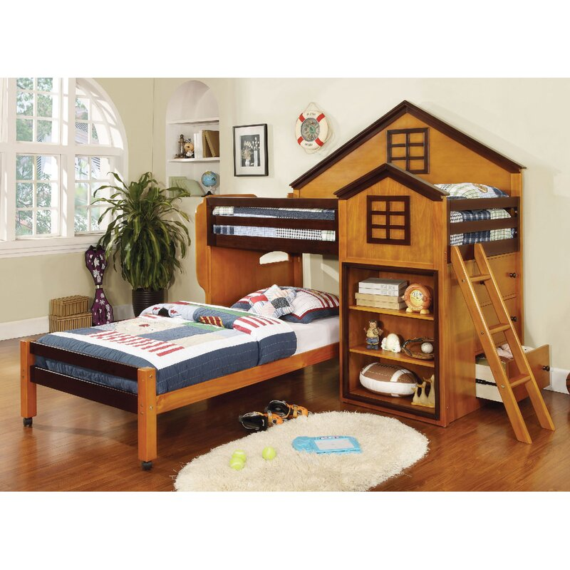 Rachel Twin Over Twin L Shaped Bunk Beds With Storage