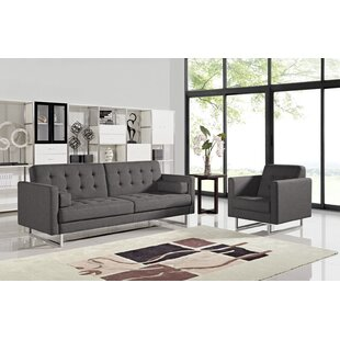 Compare prices Brokate Sleeper 2 Piece Living Room Set by Orren Ellis Reviews (2019) & Buyer's Guide