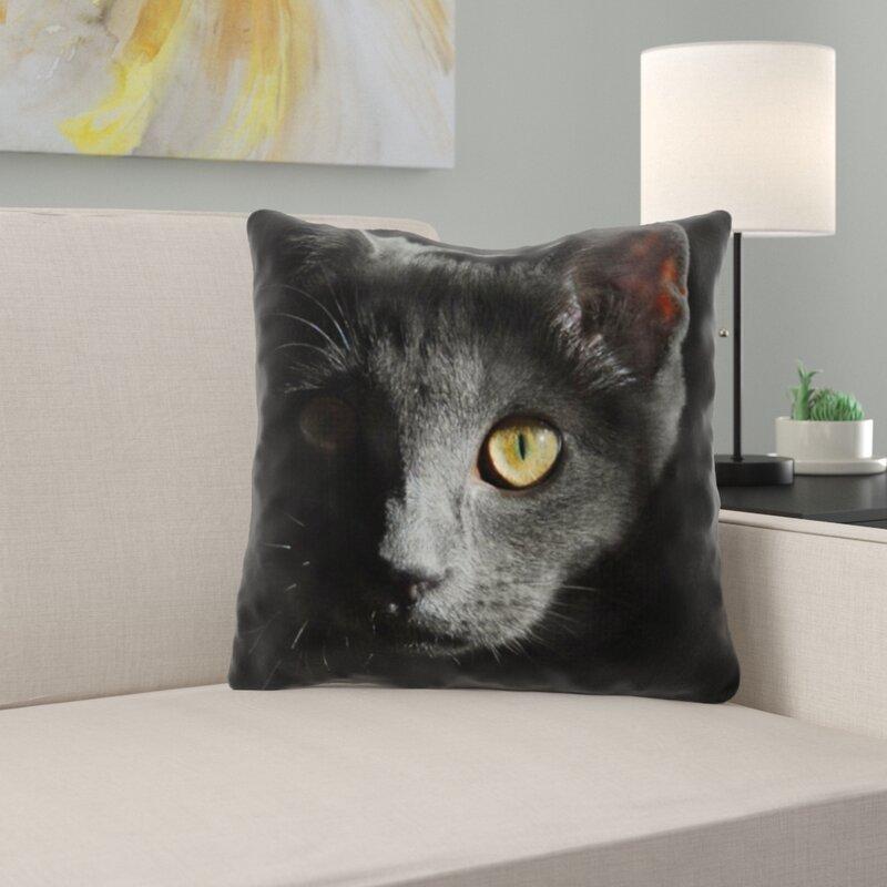 East Urban Home Cat Throw Pillow Wayfair