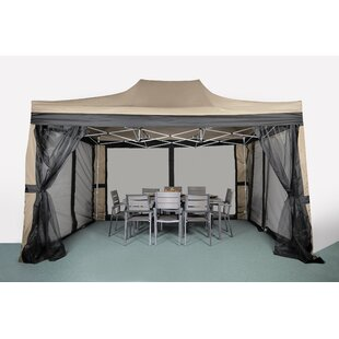 15 Ft. W x 10 Ft. D Steel Patio Gazebo by LB International