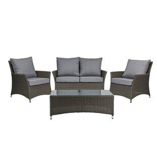Gladys 4 Seater Rattan Sofa Set By Bay Isle Home