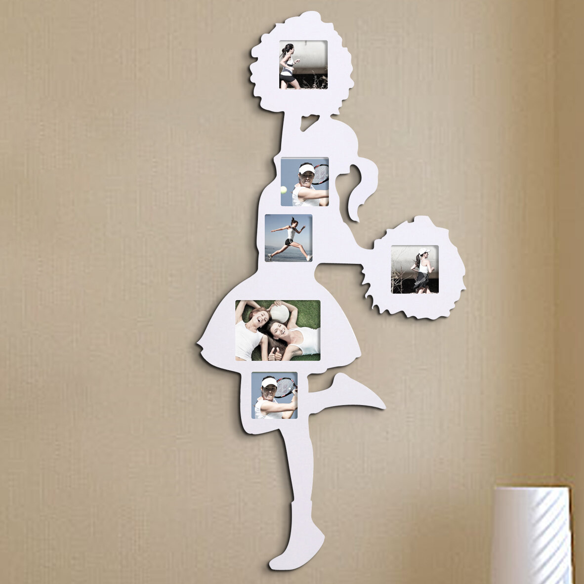 AdecoTrading 6 Opening Decorative Cheerleader Wall Hanging Collage ...