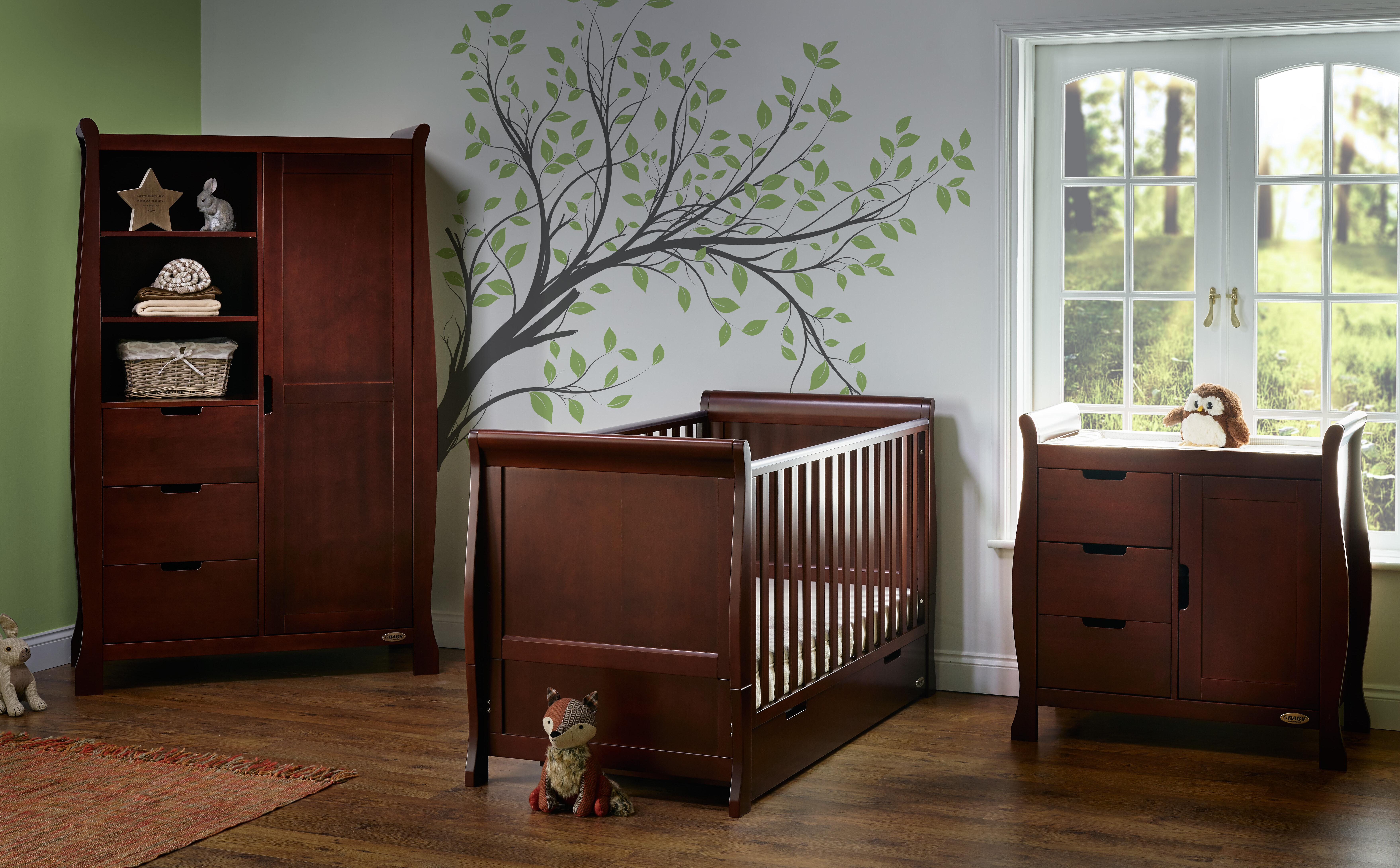Obaby Stamford Clic Sleigh 3 Piece Nursery Furniture Set Wayfair Co Uk