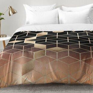 East Urban Home Ombre Cubes Comforter Set