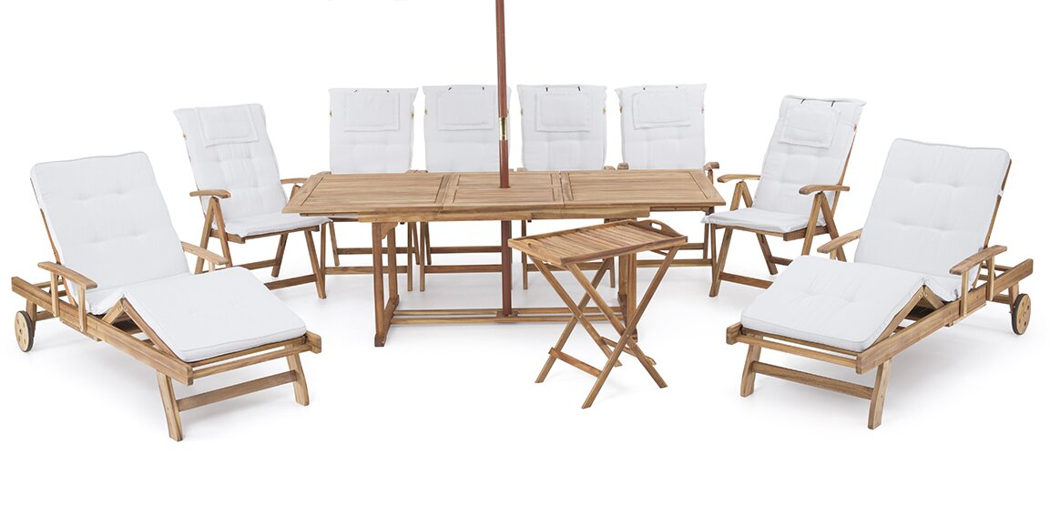 10 Piece Dining Set With Cushions