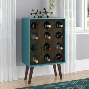 Kory 12 Bottle Floor Wine Bottle Rack