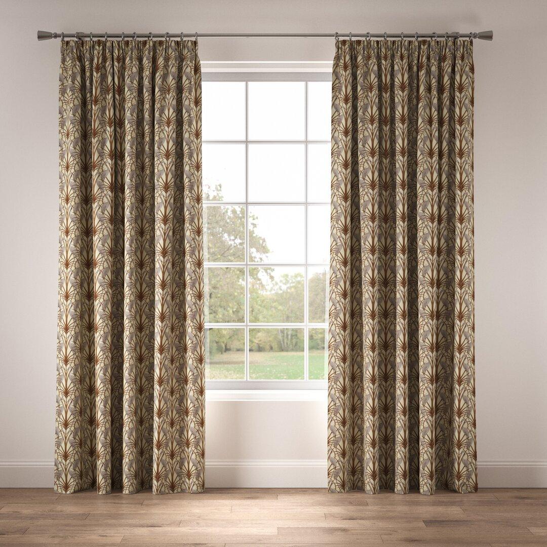Nouveau Heron Pencil Pleat Room Darkening Thermal Curtains