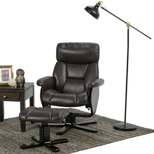 Simpli Home Whitman Manual Swivel Recliner With Ottoman