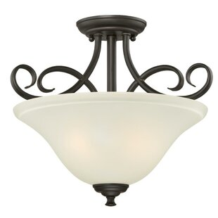 Metz 2-Light Semi Flush Mount by Charlton Home