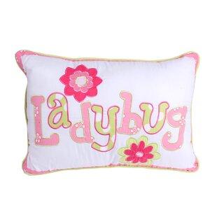 Ewell Ladybug Cotton Throw Pillow