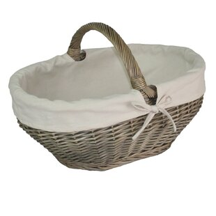 Tapered Lined Picnic Basket By Lily Manor