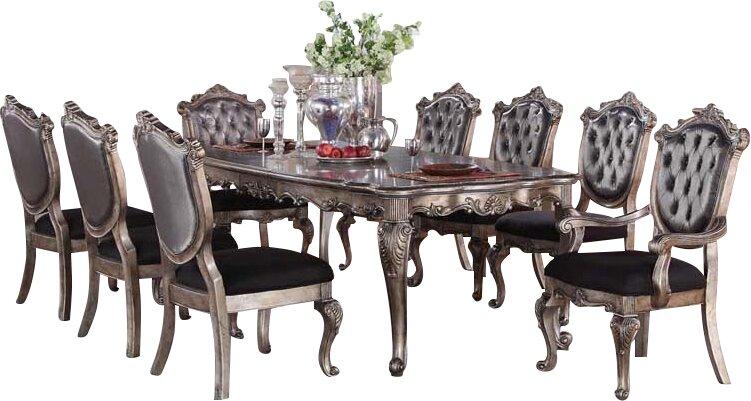 Infini Furnishings Victoria II 9 Piece Dining Set & Reviews | Wayfair