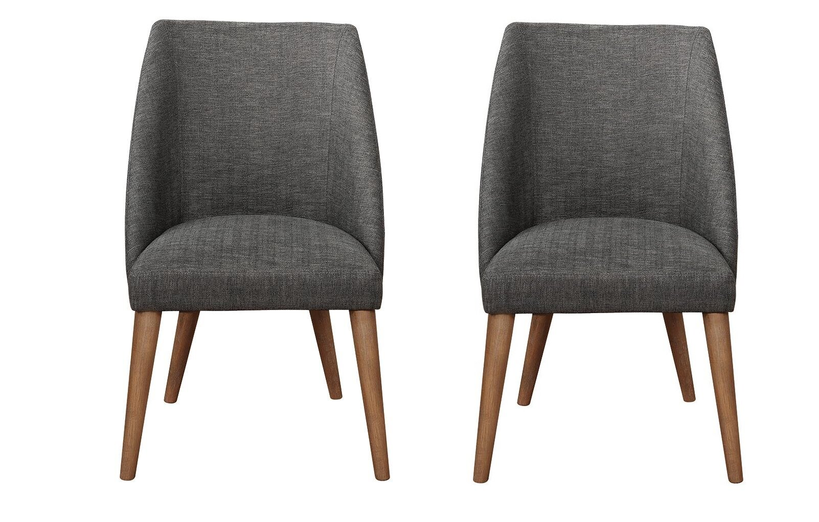 Groovy Dourdain Dining Chairs Dark Grey And Dark Cocoa Set Of 2 Caraccident5 Cool Chair Designs And Ideas Caraccident5Info