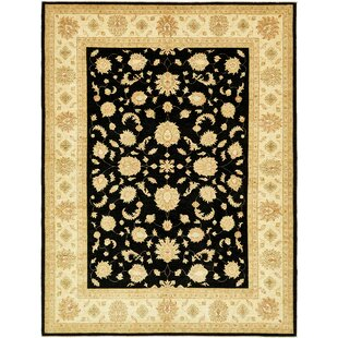 Find the perfect One-of-a-Kind Huntingdon Hand-Knotted 9'2 x 12' Wool Beige/Black Area Rug By Isabelline
