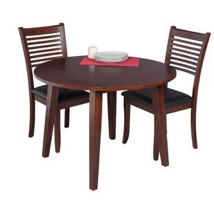 Caroline 3 Piece Solid Wood Dining Set by TTP Furnish