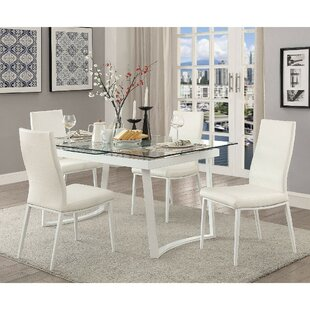 Reiber Contemporary 5 Piece Solid Wood Dining Set by Ebern Designs Looking for