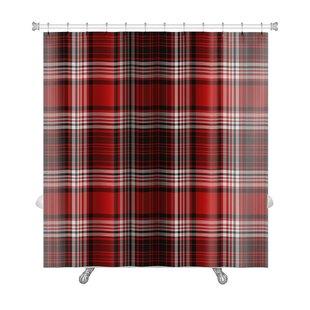 Picnic Bright Bold Plaid Premium Shower Curtain