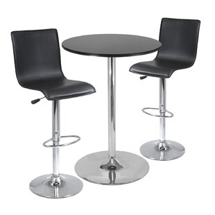 Latitude Run Garstang 3 Piece Pub Table Set