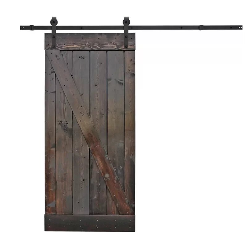 Calhome Paneled Wood Finish Barn Door With Installation Hardware Kit Reviews Wayfair