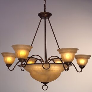 Livorno 9-Light Shaded Chandelier by Classic Lighting